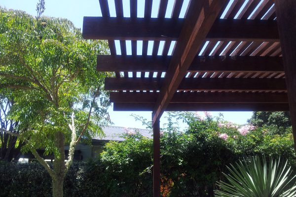 Design of large exterior Pergola structures, whether connected to buildings or not